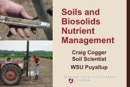 Soils and Biosolids Nutrient Management