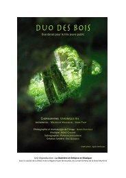 Dossier Duo des bois - Enfance et Musique