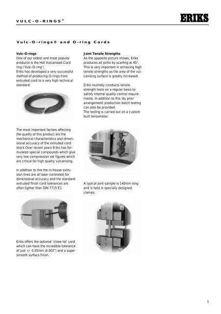 Eriks X Ring.1 Vulc O Rings Vulc O Rings And O Ring Cords Vulc O