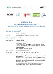 ASEAN-QA EQA Training Workshop Part 1 - MQA