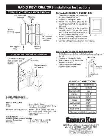 rkdt wm ws installation instructions secura key Un iMac Washer Wiring Diagram rk xrm rk xrs secura key