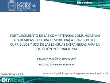 Horario - Universidad Nacional de Colombia