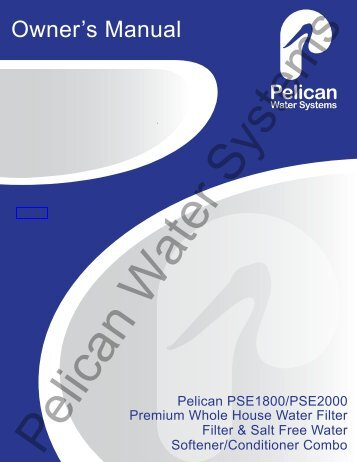 Pelican Water Systems - Owner's Manual - Colorfil