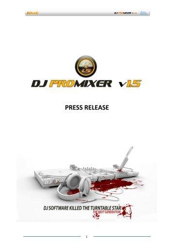 PRESS RELEASE - DJ ProMixer