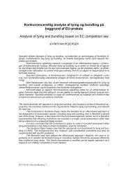 Konkurrenceretlig analyse af tying og bundling på ... - Juridisk Institut