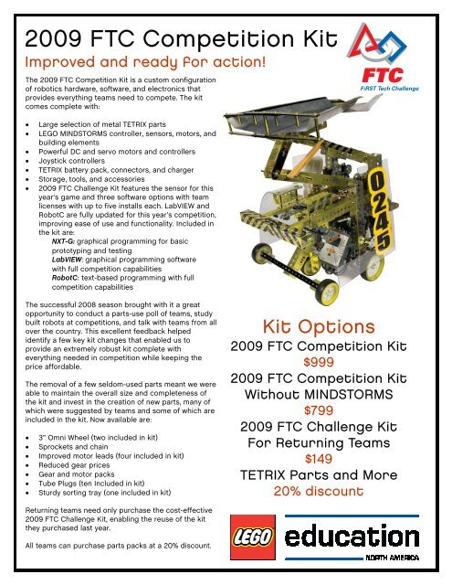 FTC Kit BOM Flyer - First