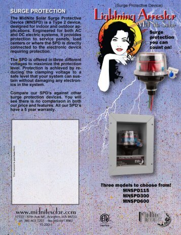 Surge Protection Device Brochure - Midnite Solar