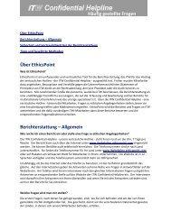 Häufig gestellte Fragen - EthicsPoint