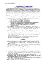 Prinzipien der Stimmbildung - Liedtexte - Gerhard Grabbe