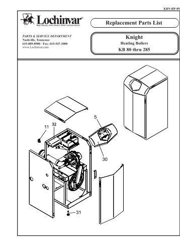 Boiler Parts: Lochinvar Knight Boiler Parts
