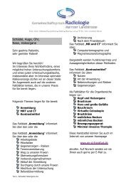 Schädel Halsorgane - Gemeinschaftspraxis Radiologie und ...