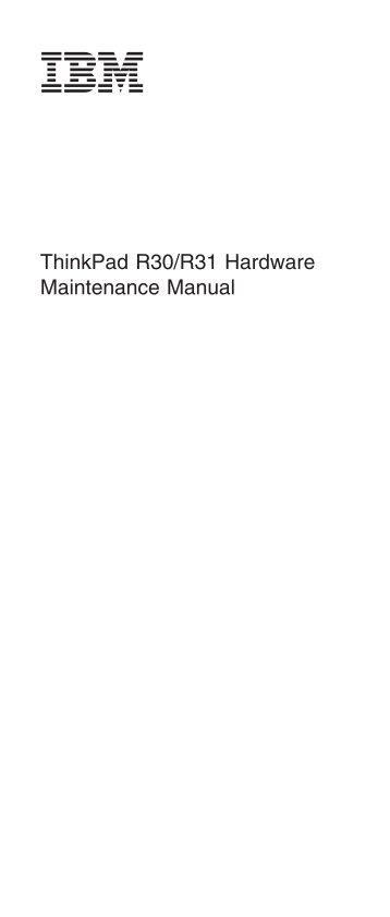 Ibm thinkpad r32 workshop repair manual download download manuals.