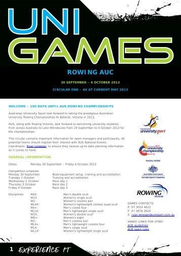 Circular 1 - Australian University Sport