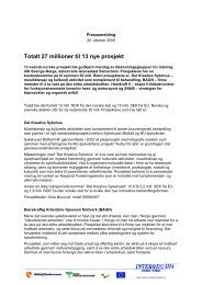 Totalt 27 millioner til 13 nye prosjekt - Interreg Sverige Norge