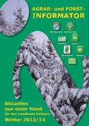 Winter 2013-14 - Amt für Ernährung, Landwirtschaft und Forsten ...