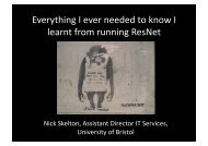 Everything I ever needed to know I learnt from running ResNet