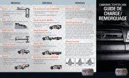 GUIDE DE CHARGE/ REMORQUAGE - Toyota Canada