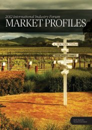 MARKET PROFILES - South Australian Tourism Commission