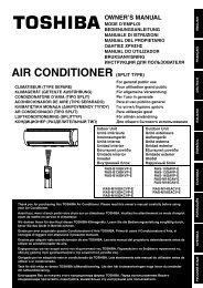 AIR CONDITIONER (SPLIT TYPE) - Toshiba AIR CONDITIONING