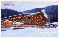 Listino invernale 2012/13 - Hotel Bad Moos