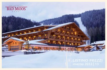 Listino invernale 2012/13 - Hotel Bad Moos