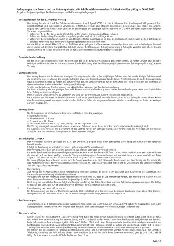 Vertragsbedingungen - Lvb