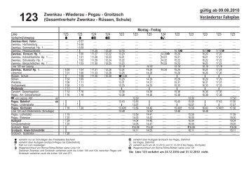 gu¨ ltig ab 09.08.2010 123 Zwenkau - Wiederau - Pegau ... - Lvb