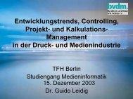 Entwicklungstrends, Controlling, Projekt- und Kalkulations  ...