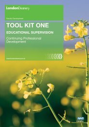 Tool KiT oNe - Faculty Development - London Deanery