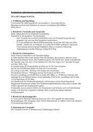 Protokoll Mitgliederversammlung 29.November 2012