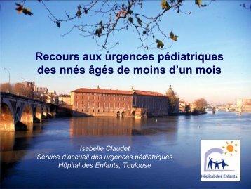 Recours aux urgences pédiatriques des nnés âgés de moins ... - gfrup
