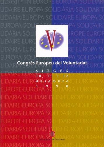 I Congrés Europeu del Voluntariat 1998 - Servei Català del Voluntariat