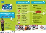 Flyer Emmi SNOWstar Tour 2013 - Europäischer Skiverband
