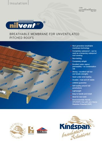 BREATHABLE MEMBRANE FOR UNVENTILATED PITCHED ...