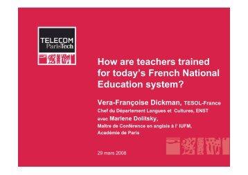 Presentation of Concours System, Vera Dickman - TESOL France