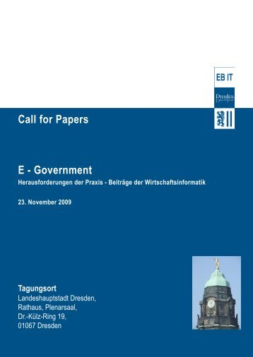 Call for Papers (PDF; ca. 800 kB) - GI-Dresden