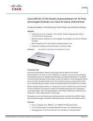 Cisco-SR216-10/100-Switch (rackmontierbar) mit 16 Ports ...