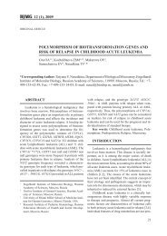 12 (1), 2009 polymorphism of biotransformation genes and risk of ...