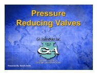Pressure Reducing Valves: Selection, Sizing, Operation and ...
