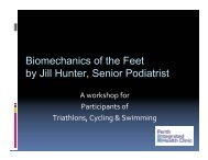 Biomechanics of the Feet by Jill Hunter, Senior Podiatrist