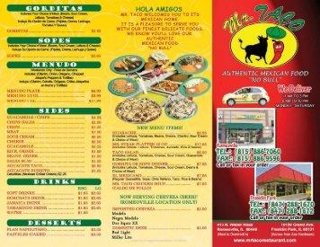 GORDITAS - Mr Taco Restaurant