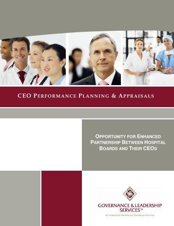 CEO Performance Planning & Appraisals - An Enhanced Partnership