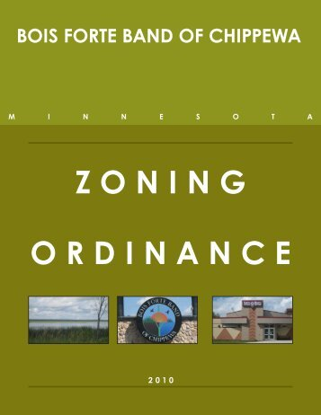 ZONING ORDINANCE - Bois Forte Reservation