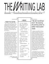 We don't proofread here - The Writing Lab Newsletter