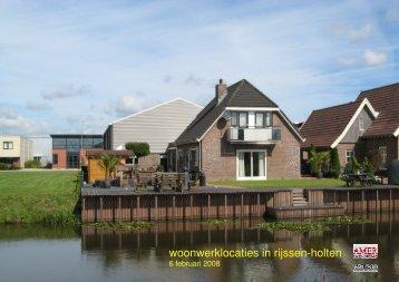 notitie woonwerklocaties - Gemeente Rijssen-Holten
