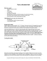 Turn a Scratch Awl - Highland Woodworking