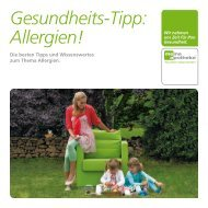 Gesundheits-Tipp: Allergien!