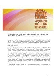 1 Istanbul 2010 European Capital of Culture Agency ECOC Bidding ...