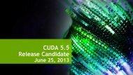 CUDA 5.5 Release Candidate