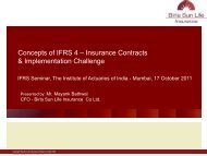 Concepts of IFRS 4 – Insurance Contracts & Implementation ...